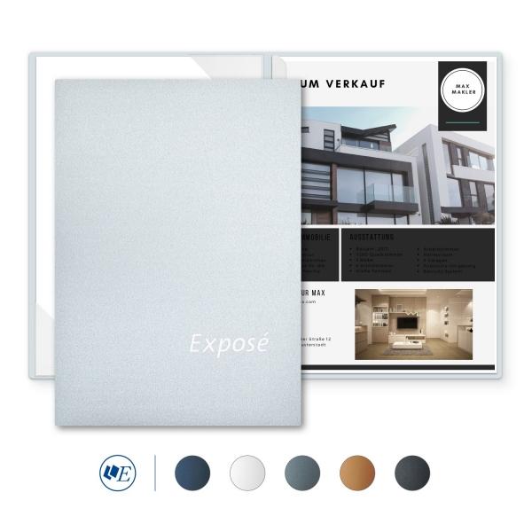 8 Stück Exposémappen Esclusiva® Classic-plus Metallic-Design