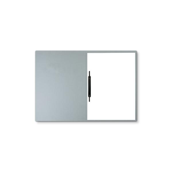 Lederstruktur 1-teilig in Grau mit 1 Heftstreifen
