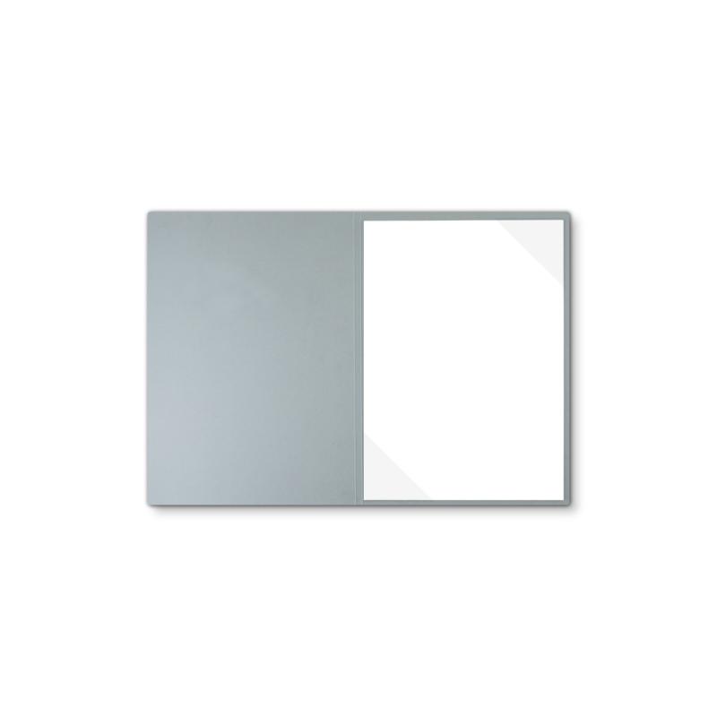 Lederstruktur 1-teilig in Grau mit Dreiecktaschen