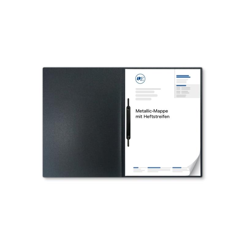 Metallic-Design 1-teilig in Anthrazit mit 1 Heftstreifen