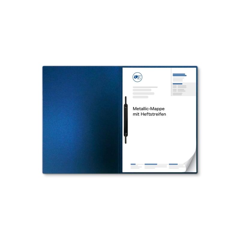 Metallic-Design 1-teilig in Nachtblau mit 1 Heftstreifen