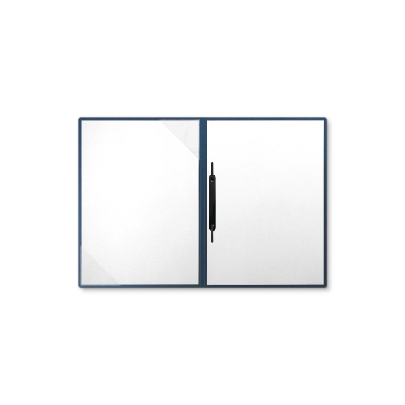 Metallic-Design 2-teilig in Nachtblau mit Dreiecktaschen und 1 Heftstreifen