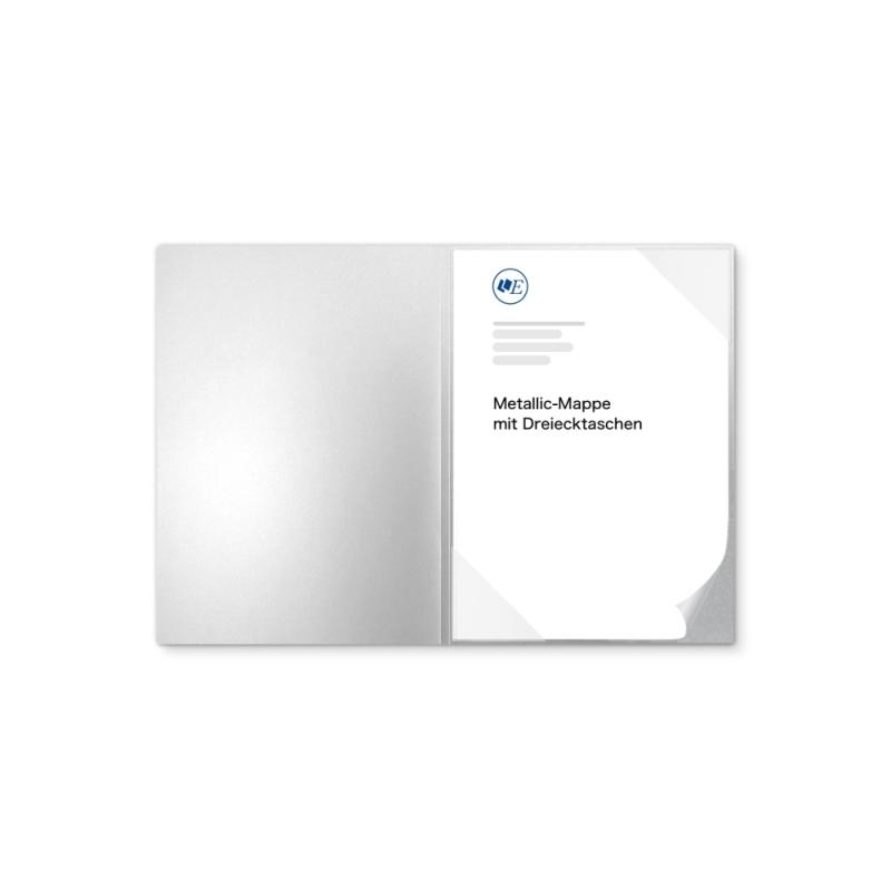 Metallic-Design 1-teilig in Silber mit Dreiecktaschen