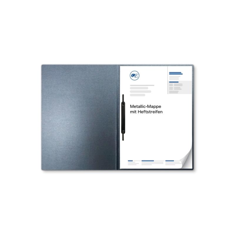 Metallic-Design 1-teilig in Zink mit 1 Heftstreifen