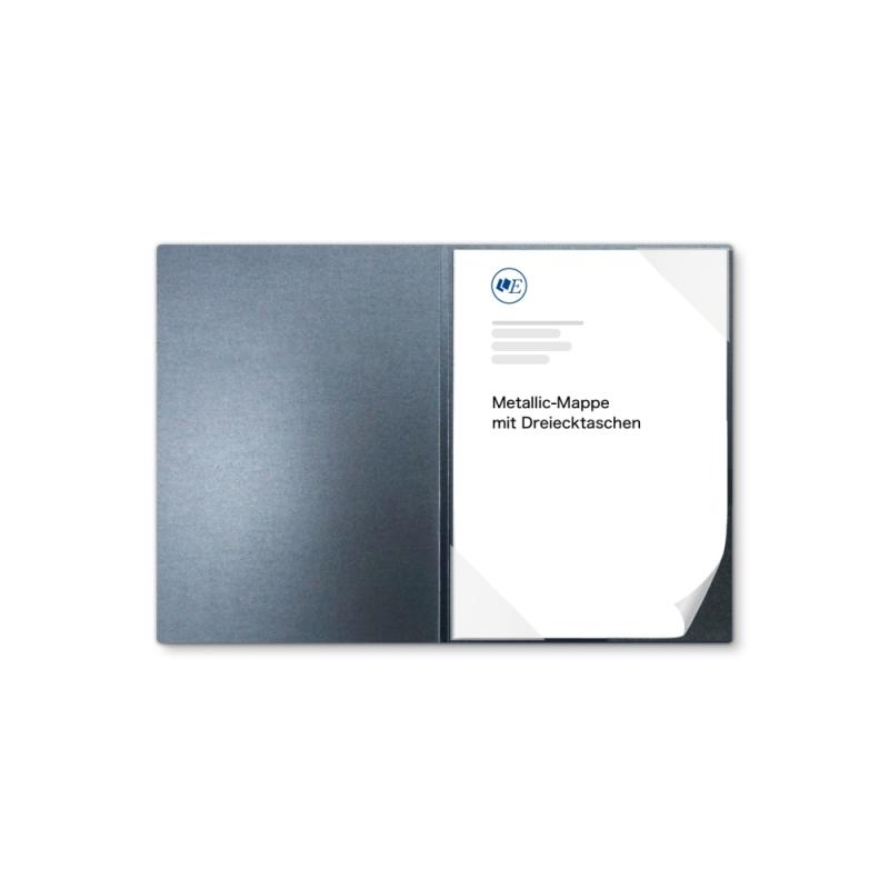 Metallic-Design 1-teilig in Zink mit Dreiecktaschen