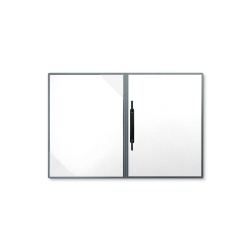 Metallic-Design 2-teilig in Zink mit Dreiecktaschen und 1 Heftstreifen