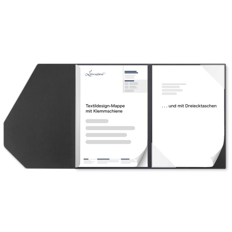 Textilstruktur 2-teilig SMART in dark grey mit 1 Klemmschiene