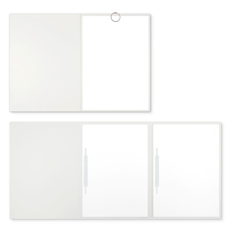 Textilstruktur 3-teilig Pearl White Heftstreifen SPIRIT