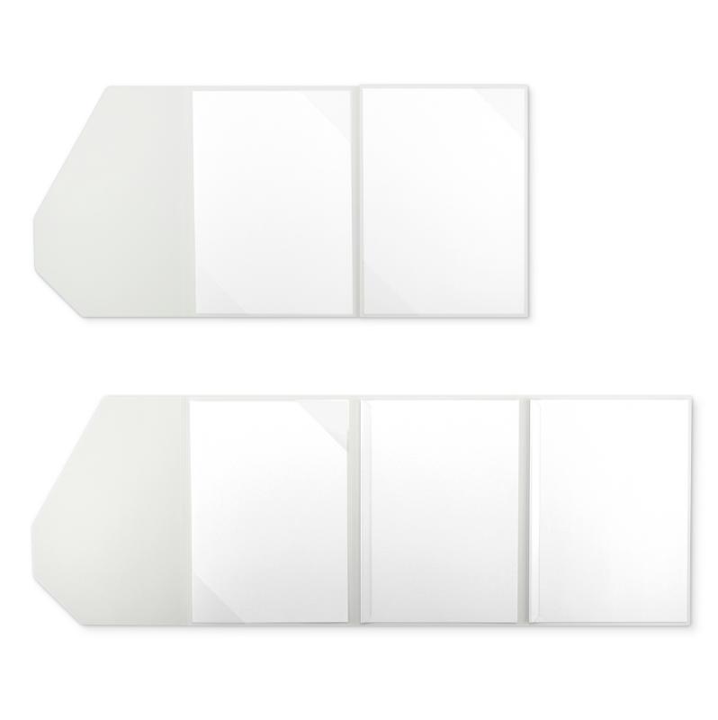 Textilstruktur 4-teilig Pearl White Klemmschienen PREMIUM