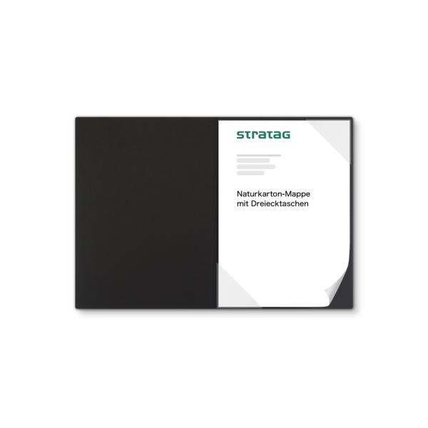 Holzstruktur 1-teilig in Schwarz mit Dreiecktaschen