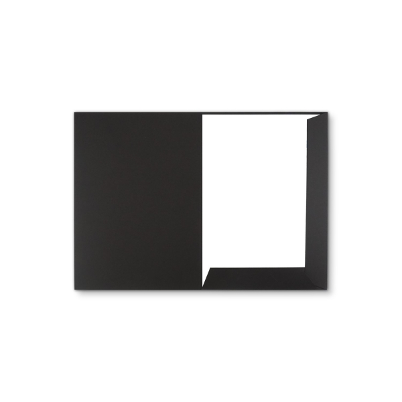 Holzstruktur 1-teilig in Schwarz mit Laschen