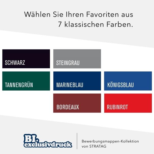 BL-exclusivdruck Farben zweiteilige Bewerbungsmappen