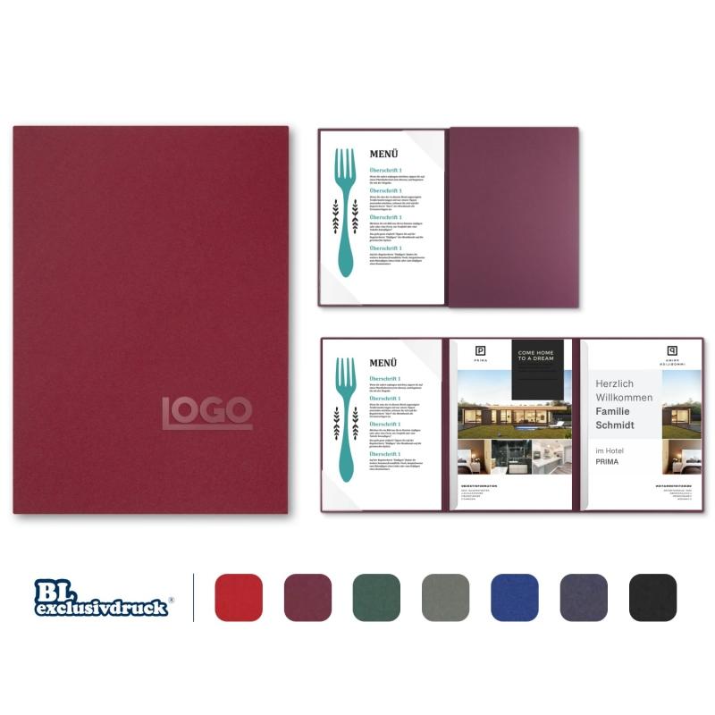 5 Stück Hotelmappen BL-exclusivdruck® OPTIMA-plus Holzstruktur