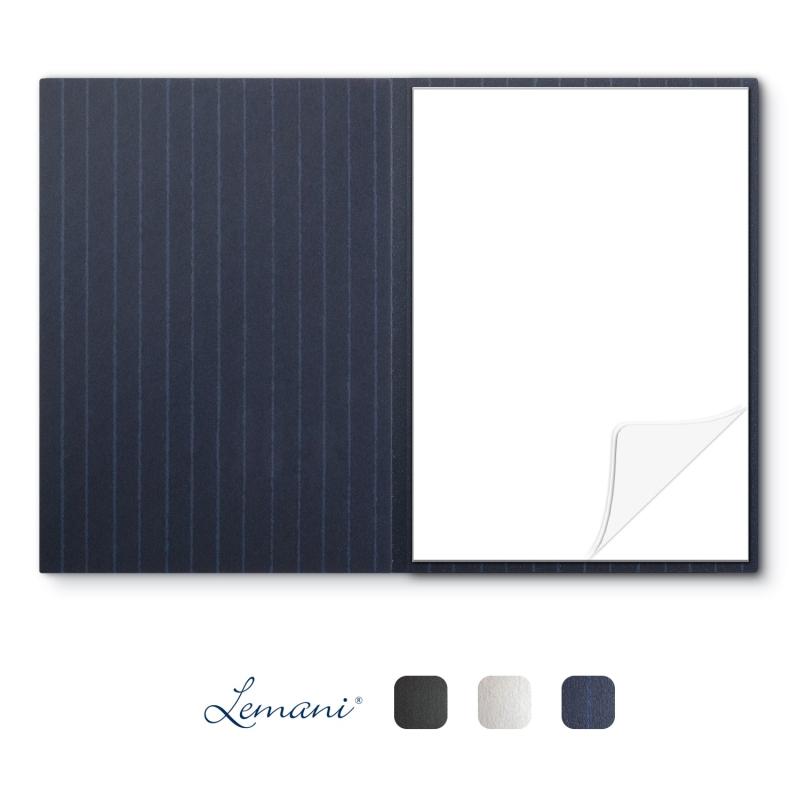 8 Stück Schreibmappen mit Notizblock Lemani® IMPULS Textilstruktur