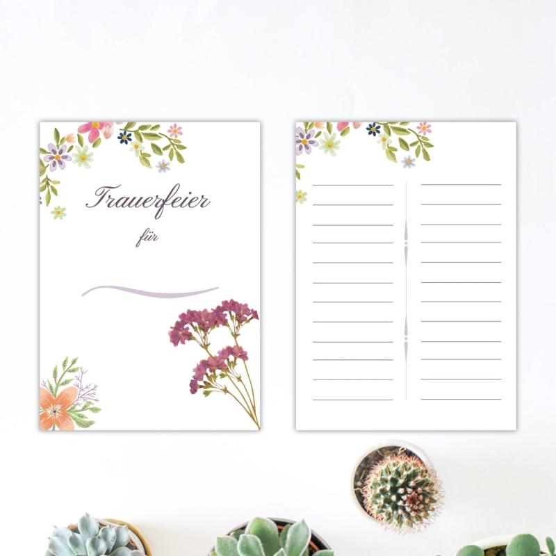 Kondolenzliste Floral