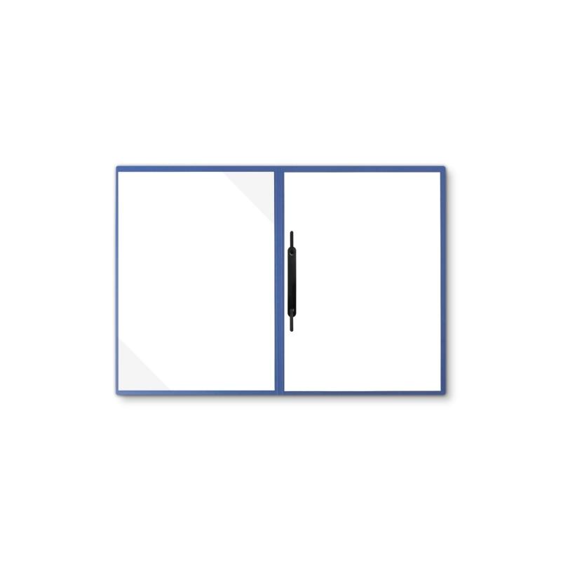Lederstruktur 2-teilig in Blau mit Dreiecktaschen und 1 Heftstreifen