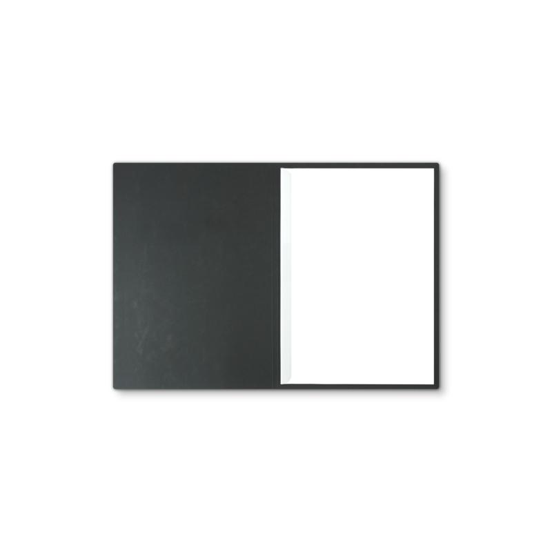 Lederstruktur 1-teilig in Schwarz mit 1 Klemmschiene