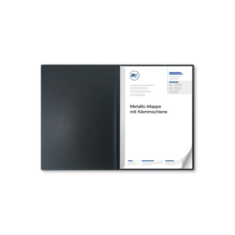 Metallic-Design 1-teilig in Anthrazit mit 1 Klemmschiene