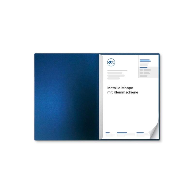 Metallic-Design 1-teilig in Nachtblau mit 1 Klemmschiene