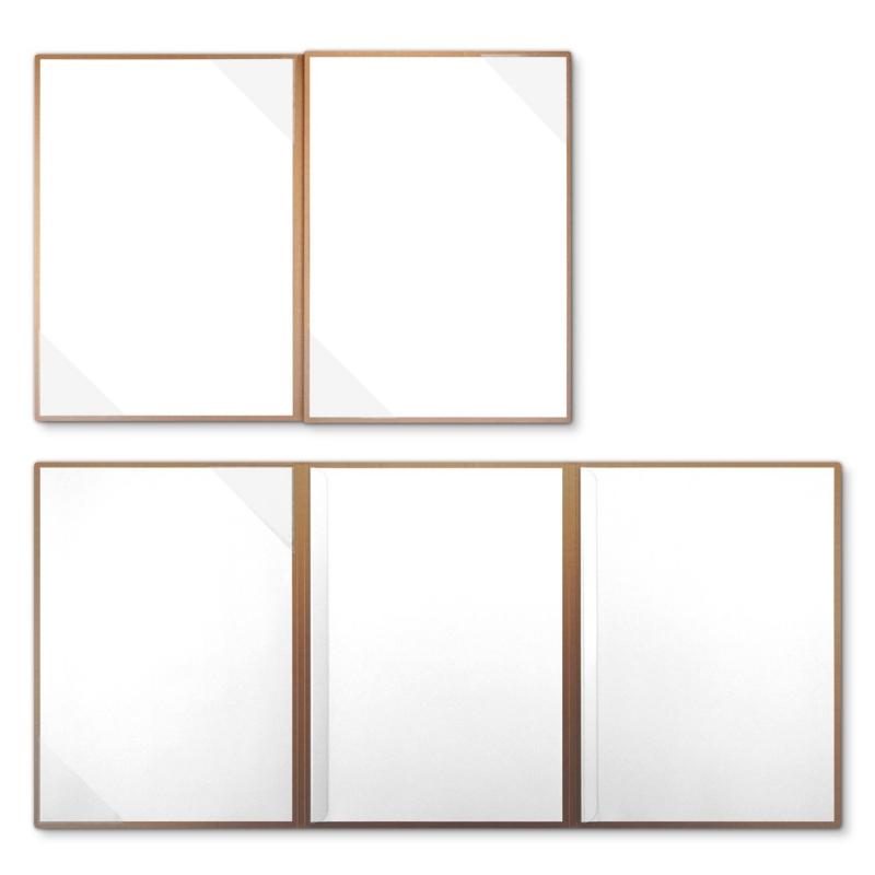 Metallic-Design 4-teilig in Kupfer mit 2 Seiten Dreiecktaschen und 2 Klemmschienen
