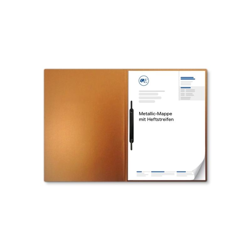 Metallic-Design 1-teilig in Kupfer mit 1 Heftstreifen