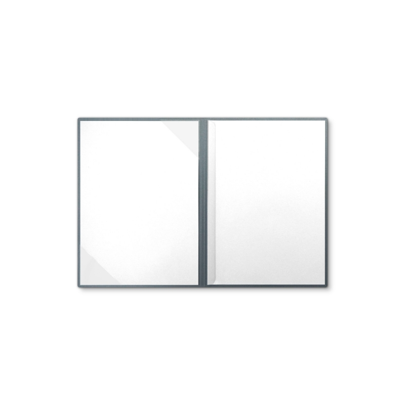 Metallic-Design 2-teilig in Zink mit Dreiecktaschen und 1 Klemmschiene