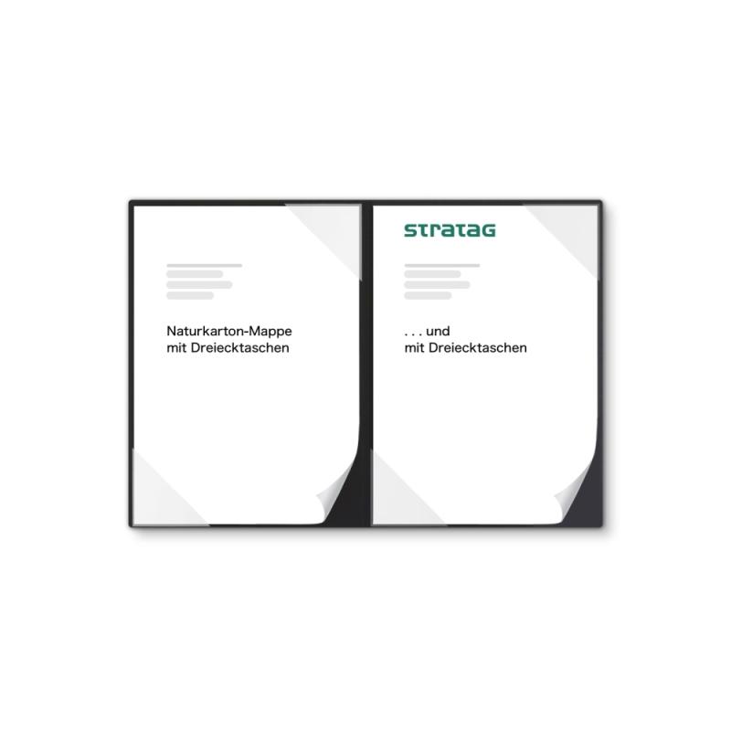 Holzstruktur 2-teilig in Schwarz mit 2 Seiten Dreiecktaschen