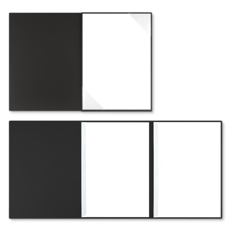 Holzstruktur 3-teilig in Schwarz mit Dreiecktaschen (re.) und 2 Klemmschienen