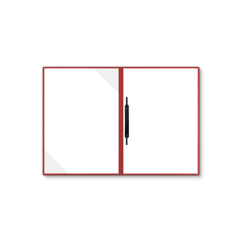 Holzstruktur 2-teilig in Rubinrot mit Dreiecktaschen und 1 Heftstreifen