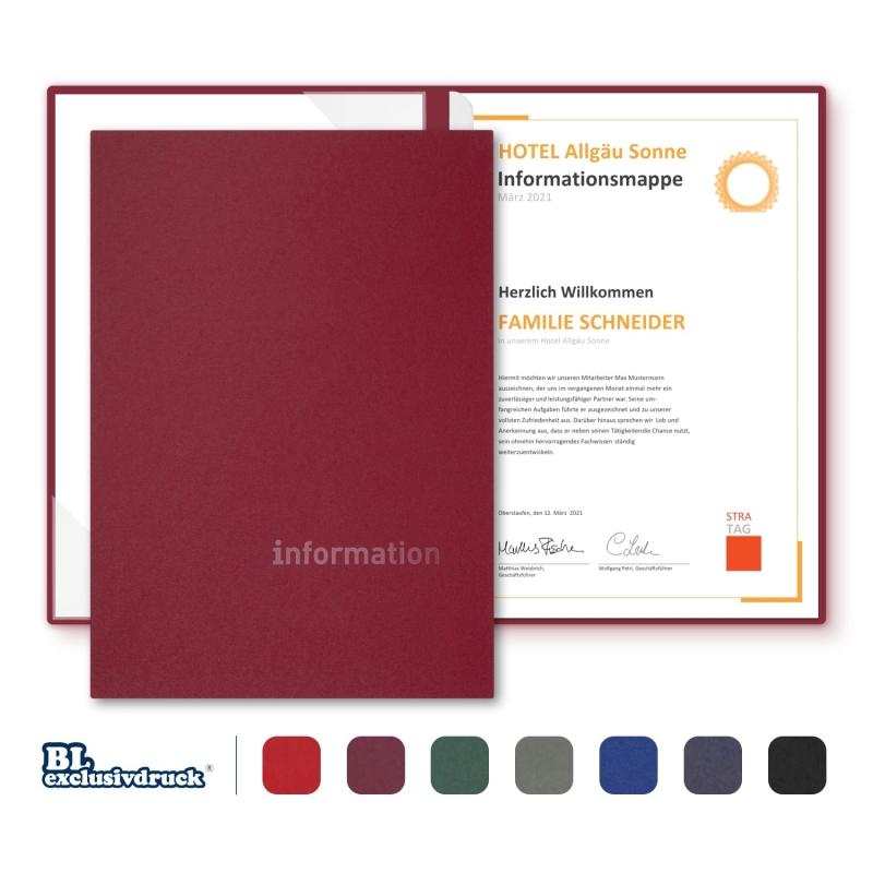 8 Stück BL-exclusivdruck® BL-plus Informationsmappen