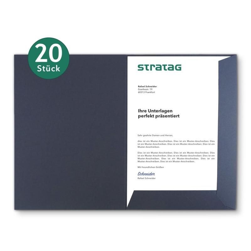 20 Stück Präsentationsmappen BL-exclusivdruck® Holzstruktur