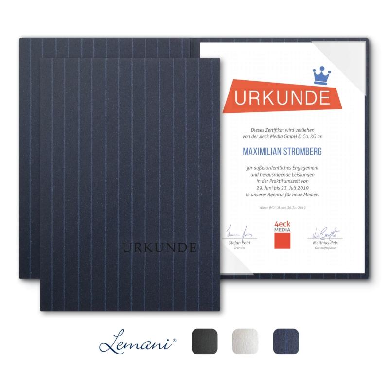8 Stück Urkundenmappen Lemani® BASIC Textilstruktur