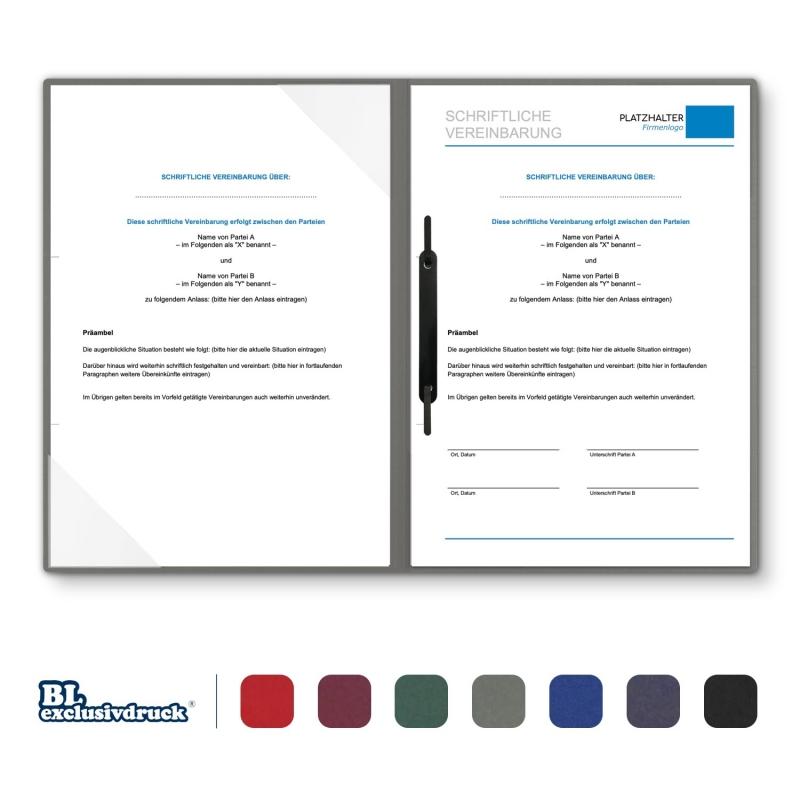 8 Stück Vertragsmappen mit Abheftstreifen BL-exclusivdruck® BL-plus Holzstruktur