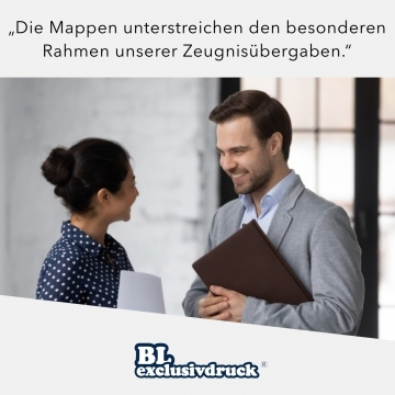 5 Stück Zeugnismappen BL-exclusivdruck® OPTIMA-plus Holzstruktur