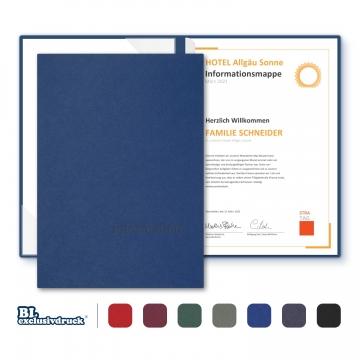 8 Stück Informationsmappen BL-exclusivdruck® BL-plus Holzstruktur