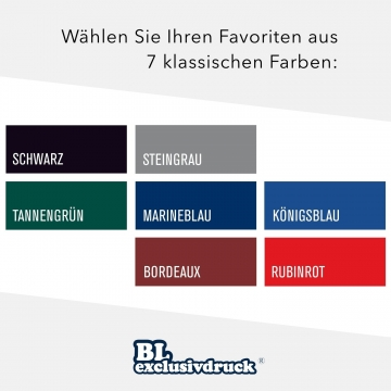 8 Stück Informationsmappen BL-exclusivdruck® BL-plus Holzstruktur
