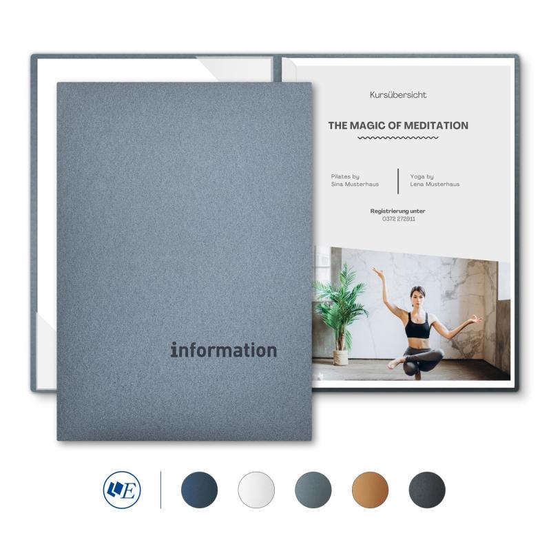 8 Stück Informationsmappen Esclusiva® Classic-plus Metallic-Design