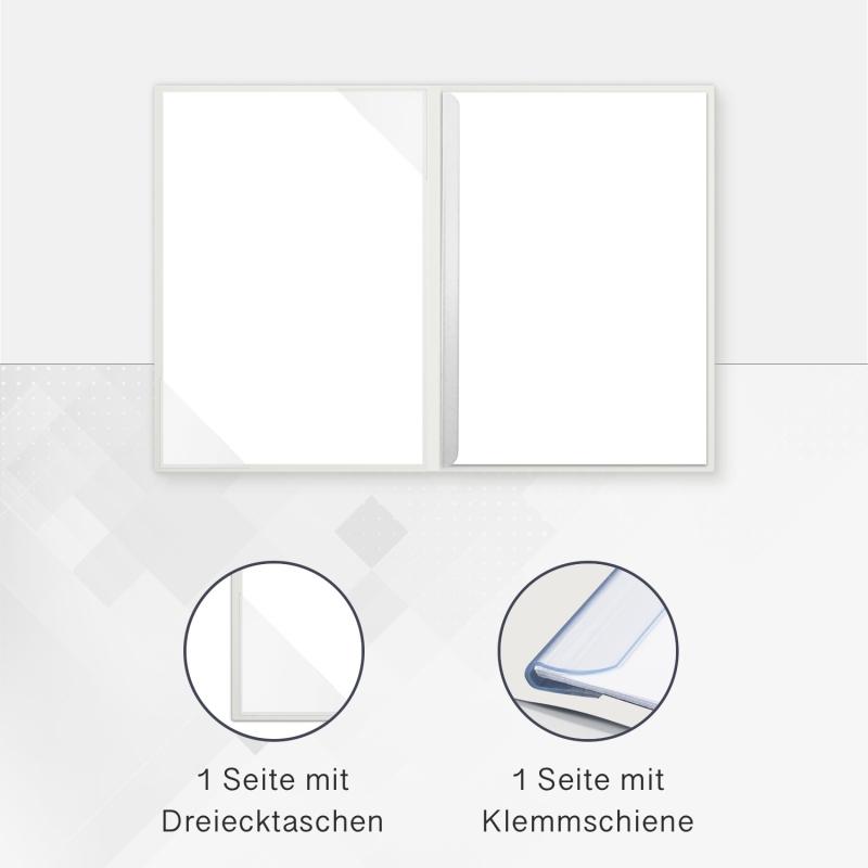 8 Stück Informationsmappen Lemani® CARISMA Textilstruktur