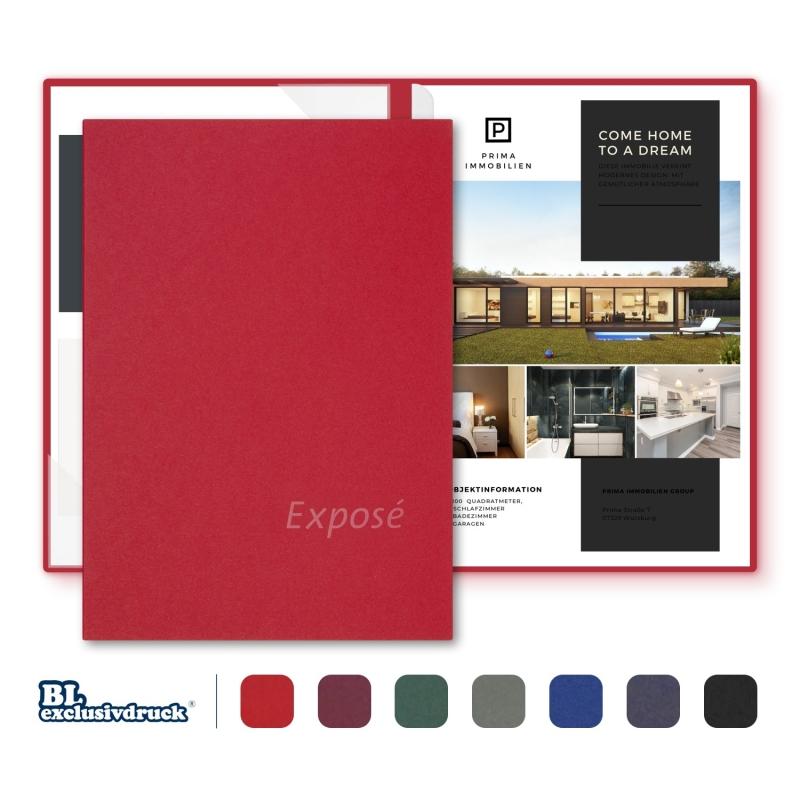 8 Stück Exposémappen BL-exclusivdruck® BL-plus Holzstruktur