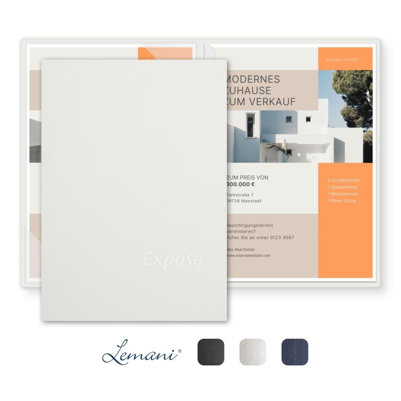 8 Stück Exposémappen Lemani® CARISMA Textilstruktur