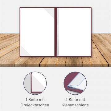 8 Stück Willkommensmappen BL-exclusivdruck® BL-plus Holzstruktur