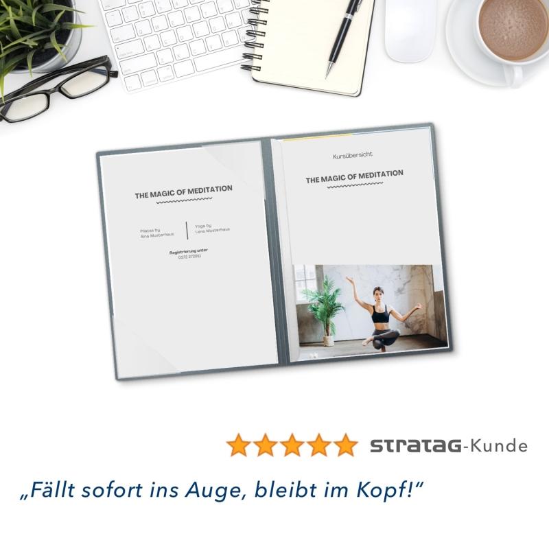 8 Stück Willkommensmappen Esclusiva® Classic-plus Metallic-Design