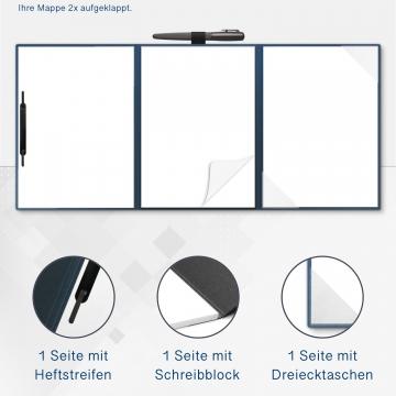 5 Stück 4-teilige Tagungsmappen mit Schreibblock Esclusiva® Spirit-plus Metallic-Design