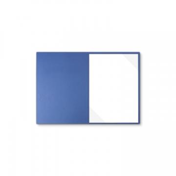 Lederstruktur 1-teilig in Blau mit Dreiecktaschen