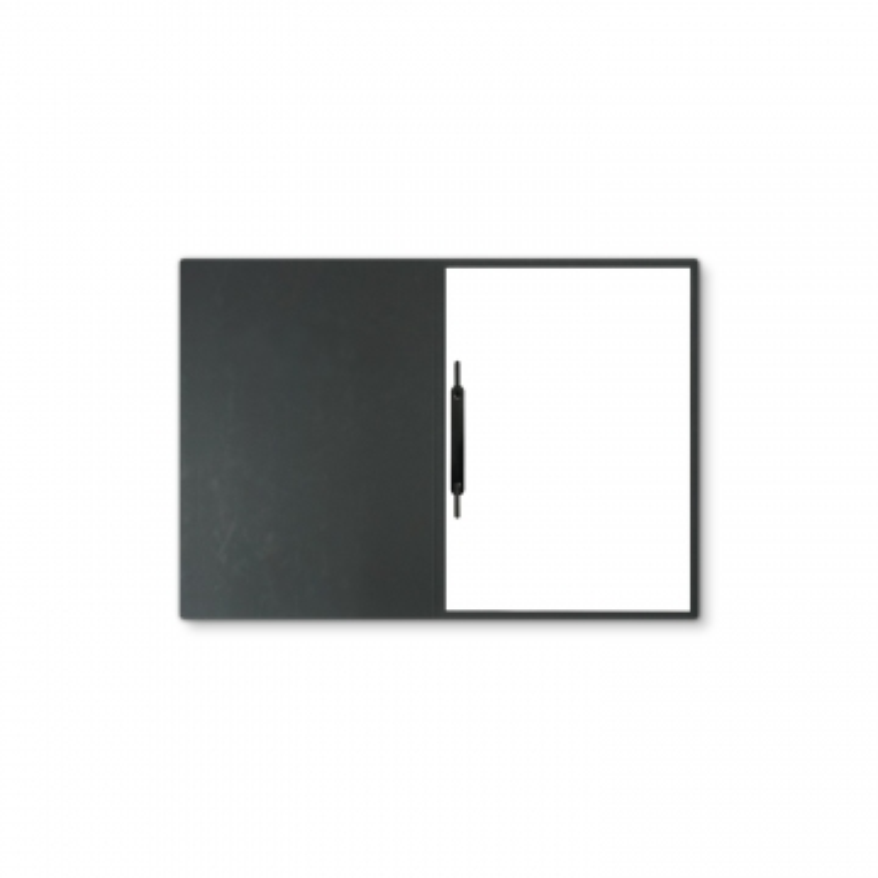 Lederstruktur 1-teilig in Schwarz mit 1 Heftstreifen