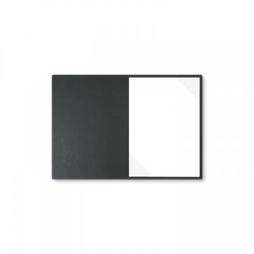 Lederstruktur 1-teilig in Schwarz mit Dreiecktaschen