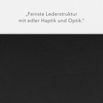 Lederstruktur 2-teilig in Schwarz mit Dreiecktaschen und 1 Heftstreifen