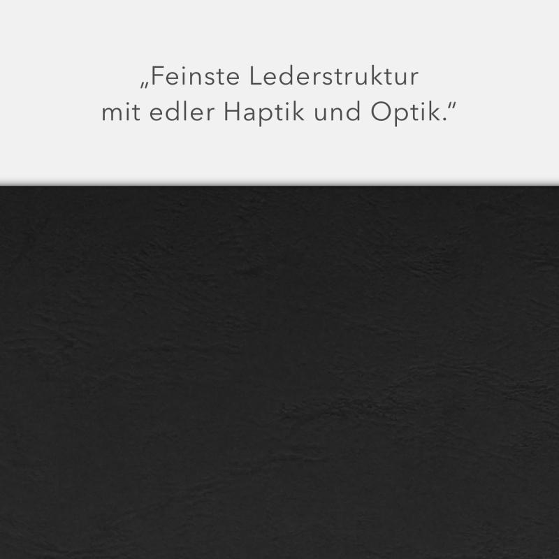 Lederstruktur 3-teilig in Schwarz mit Kartoneinschüben und 2 Heftstreifen