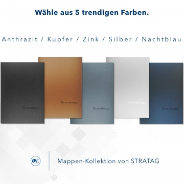 Metallic-Design 1-teilig in Anthrazit mit 1 Klemmschiene