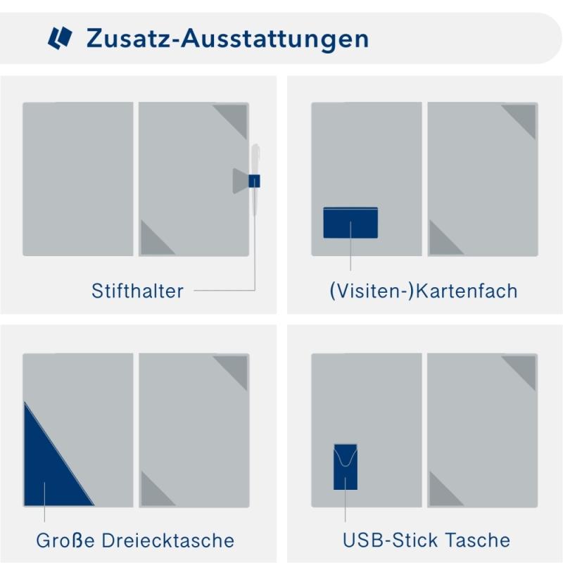 Metallic-Design 1-teilig in Anthrazit mit Dreiecktaschen